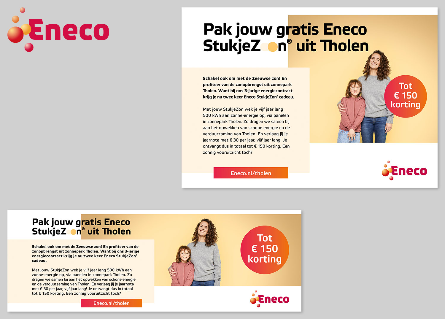 Advertentie Eneco StukjeZon Tholen