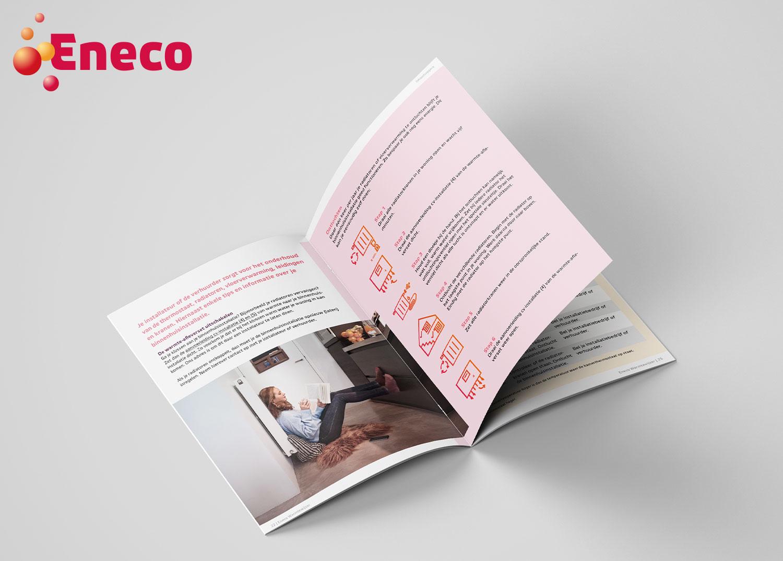 Brochure A5 Eneco Warmtewijzer - open