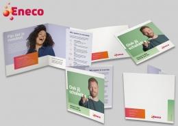 Tweeluik folder werving Eneco € 200 korting