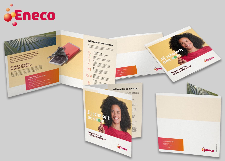 Tweeluik folder werving Eneco Stukjezon