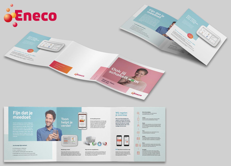 Drieluik folder werving Eneco Toon