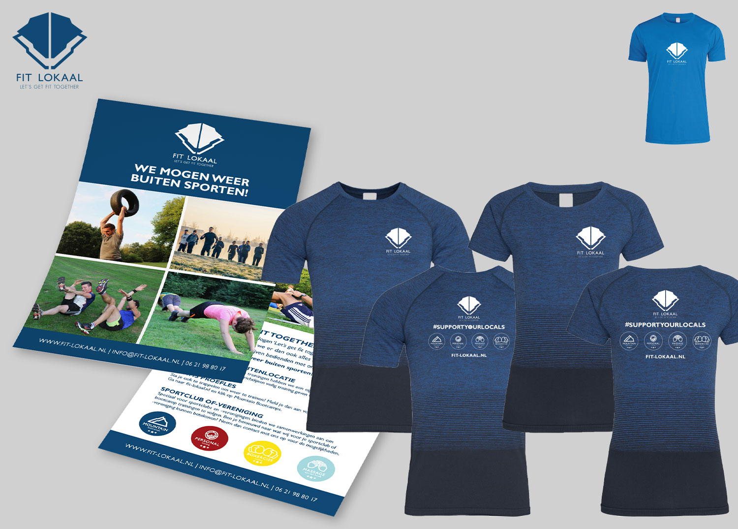 Flyer & Shirt Fit-Lokaal