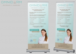 Rollup banner Omniderm
