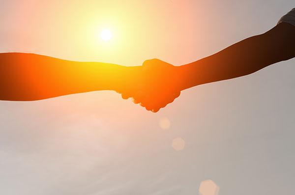 Reclamecampagne handshake
